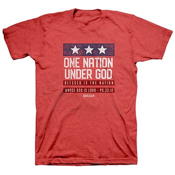 Kerusso One Nation Under God USA Patriotic 2021 Red T-Shirt