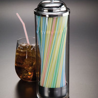 Straw Dispenser SD3511 Clear Plastic With Top