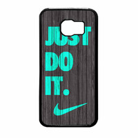 Nike Just Do It Wood Colored Darkwood Wooden Fdl Samsung Galaxy S6 Case