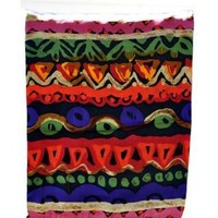 Chinese Multi-Colored Silk Scarf