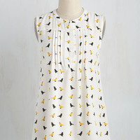 Freelance for the Taking Tank Top in Birds | Mod Retro Vintage Short Sleeve Shirts | ModCloth.com