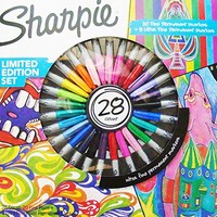 Sharpie Limited Edition Set 28 Count Fine Point Permanent Markers Assorted Colors