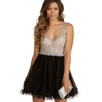 Luciana-Natural Homecoming Dress