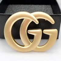 GUCCI New fashion letter couple brooch Golden