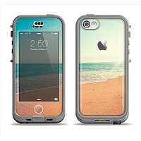 The Vintage Beach Scene Apple iPhone 5c LifeProof Nuud Case Skin Set