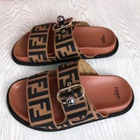 Fendi Women Fashion Slipper Sandals Shoes Stylish Couple Sandal Slipper Shoes