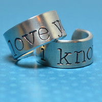 I Love You I Know Ring Set