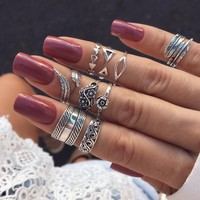 Ring Bohemia Hollow Out Leaf Set [256908492826]