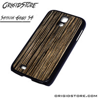 Wood Texture Black Case For Samsung Galaxy S4 Case