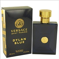 Versace Pour Homme Dylan Blue by Versace Mini EDT .17 oz for Men