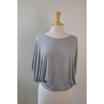 Bella Lux Grey Slouchy Tee