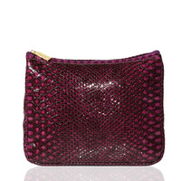 faux snakeskin cosmetic bag from tarte cosmetics