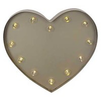 Heart Marquee Light Gold - Pillowfort™ : Target