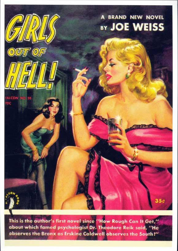 Image of Girls Out of Hell 11x17 Retro Book Cover Poster