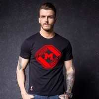 Fashion Men's Fashion Cotton Short Sleeve Print T-shirts [10488650947]