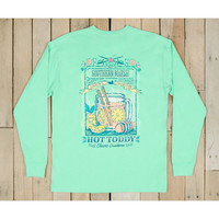 Southern Marsh Blue Cocktail Collection Tee- Hotty Toddy- Bimini Green
