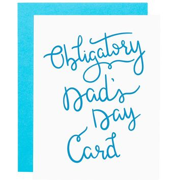 Dad's Day letterpress card