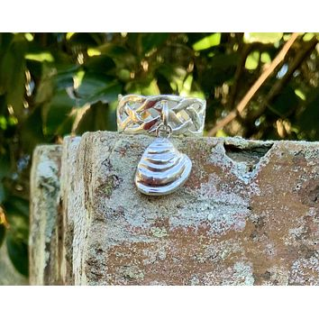 Pawleys Island Shell Charm  Ring