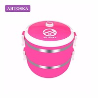 AHTOSKA Two Layers Lunch Boxes Stainless Steel Dinnerware Insulation Storage Food Container Suitable For Outdoor Camping