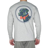 Tartan Lab Long Sleeve Tee Shirt in Light Grey by Southern Proper