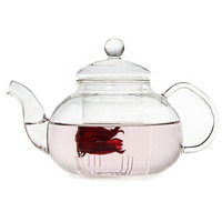 Top Quality Useful 800ml Flower Coffee Glass Tea Pot Large Blooming Chinese Glass Teapots Heat Resistant Glass Tea Pots Infuser