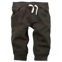 Carter's Solid French Terry Pants - Baby