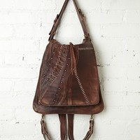 Free People Leather Corset Backpack