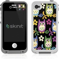 Patterns Lifeproof iPhone 4&4s Skin - Owls on Branches Vinyl Decal Skin For Your Lifeproof iPhone 4&4s