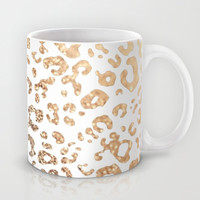 GOLD LEO Mug by Monika Strigel