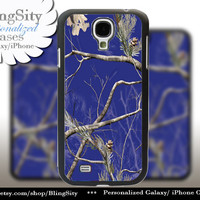 Blue Camo Galaxy S4 case S5 Real Tree Camouflage Personalized Samsung Galaxy S3 Case Note 2 3 Cover Country Girl and men