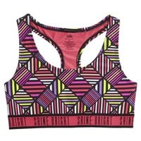 GEO PRINT SPORTS BRA | GIRLS BORN TO BE FIERCE ACTIVE THE COLLECTIONS | SHOP JUSTICE