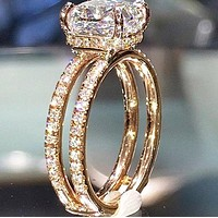 New fashion diamond ring women accessory Golden