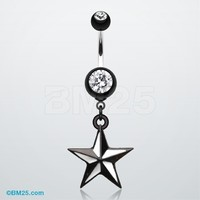 Classic Nautical Star Belly Button Ring