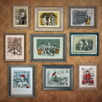 Wes Anderson SALE Pay 2 take 3  art illustration drawing ink pencil pen digital print comic