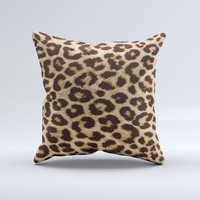 Simple Vector Cheetah Print Ink-Fuzed Decorative Throw Pillow