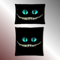 Alice in Wonderland Cheshire Cat Smile Pillow Case Square Pillow Cases, Rectangle Pillow Cases
