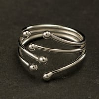 Sterling Silver Wrap Ring- Simple Silver Ring- Sterling Silver Ring- Modern Silver Ring- sizes: 6, 7, 8
