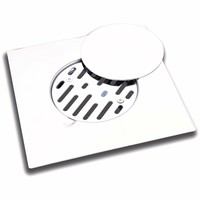 "ME Steel Aisi 304 Shower Floor Drain 7.9""x7.9"" Removable Cover Polished Chrome"