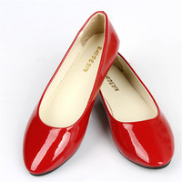 Casual Candy Color Flat Shoes