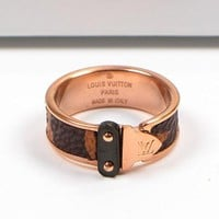 8DESS Louis Vuitton LV Women Fashion Plated Ring