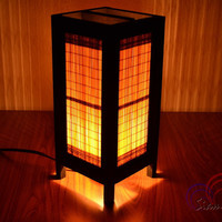 Bed Room Night Light Table Lantern Bamboo Blind Home Furniture Decoration.