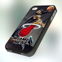 Miami Heat Lebron James pb0191 Design For IPhone 4 or 4S Case / Cover