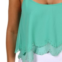 eaded Ruffle Crop