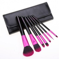 7PCS Makeup Brush Professional Cosmetic Make Up Brush With Holder Bag
