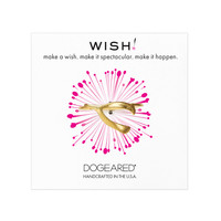 large wishbone ring, gold dipped, size 7 - Dogeared