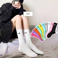 Loewe Nike Fashion Women Personality Breathable Sport Cotton Socks Custom Nike Elite Socks