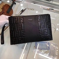 FENDI MEN'S 2018 NEW STYLE LEATHER HAND BAG