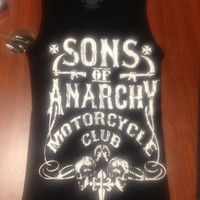NEW 2013! SONS OF ANARCHY MOTOR CLUB SOA BIKER TANK TOP SHIRT GIRLS JUNIORS  S
