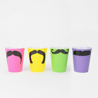 Urban Outfitters - Mustache Shot Glass - Set Of 4