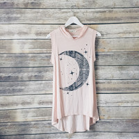 Take Me To The Moon Hooded Tank